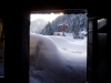 La terrasse en hiver depuis l\'entrée