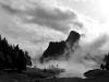 Le brouillard sur le lac